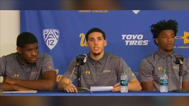Trump tweets he should have left UCLA players in Chinese jail