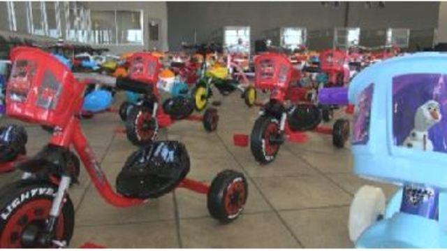 Tricycles For Tykes at Mac's Toy Fund