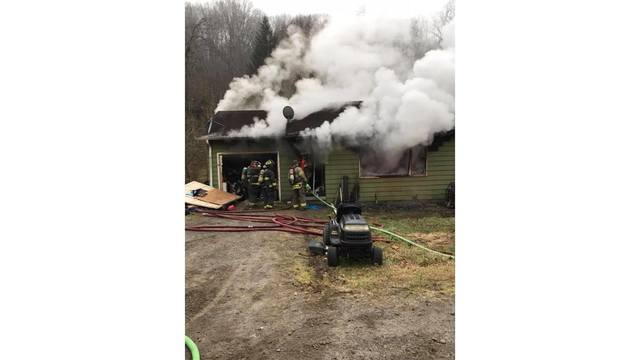 Crews battling house fire in Fayette County