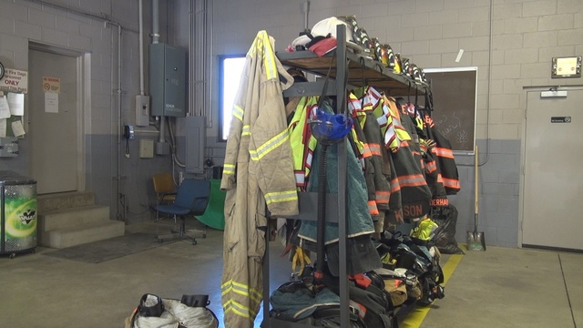 First responders fighting cold conditions