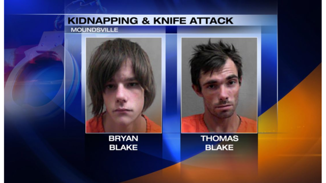 2 West Virginia men arrested after allegedly kidnapping a woman at knifepoint
