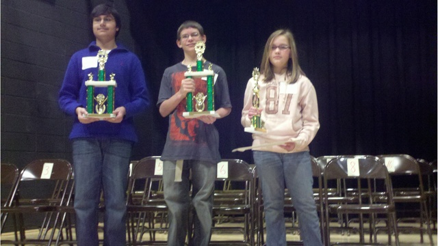 3 middle school students spell their way to county bee