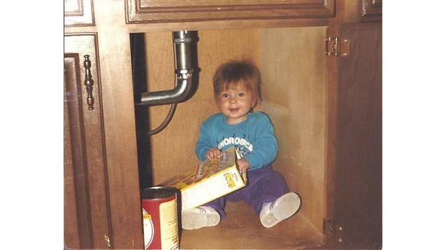 2-5-18 1990 - My daughter, age 2, found under the sink sneaking sugar pops from Brenda Ramey-Kerwood.jpg