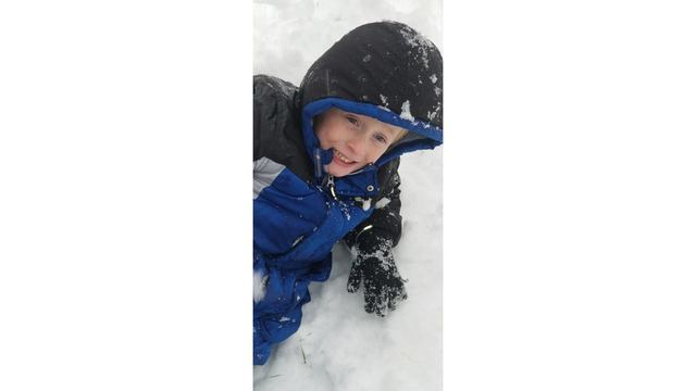 2-10-18 My son ZANDREW, Playing in the snow - He was ecstatic that there was enough to play in from Tiffany Sims.jpg
