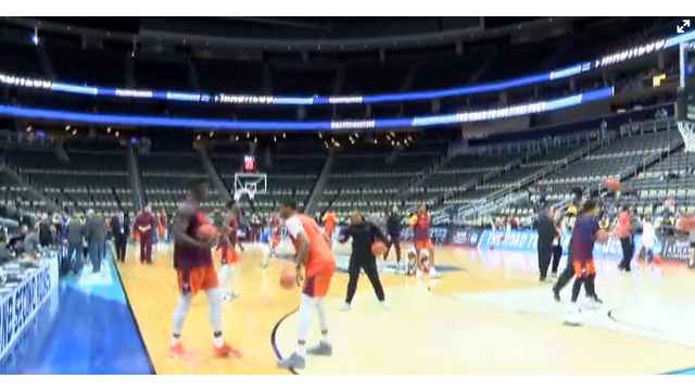 Hokies hit the hardwood at in Pittsburgh for big dance