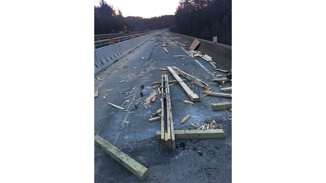 Accident Causes Major Damage on U S  Route 50