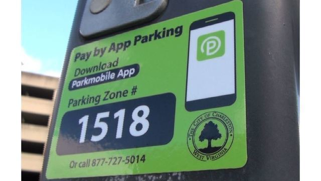 Motorists can pay to park using their smartphone in Charleston, WV