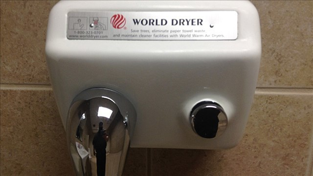 Stand back: hand dryers may be blowing bacteria your way