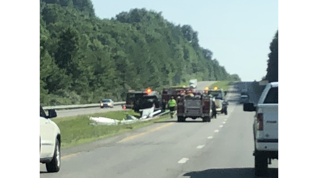 One lane closed on Route 19 due to wreck