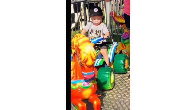 Little walt riding the rides for the first time at the fair, he loved it from Morgan Goddard_1534188854723.jpg.jpg