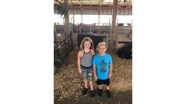 Eli and Maddie Short enjoying looking at the animals from Haley Acord_1534281993454.jpg.jpg
