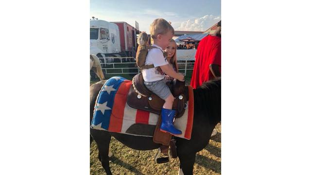 My great granddaughter and great grandson enjoyed the horse ride from Linda Plumley_1534282004996.jpg.jpg