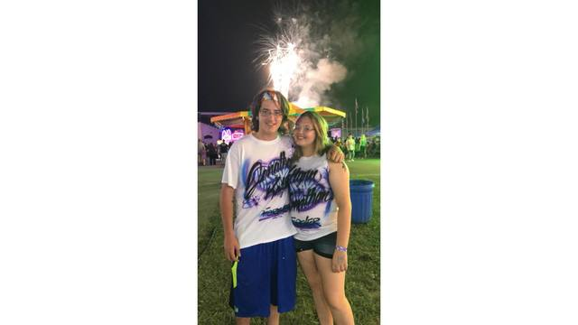 My handsome boyfriend, our 3 months anniversary, enjoying the beautiful fireworks that where above us from Katlynn Chapman_1534281990220.jpg.jpg