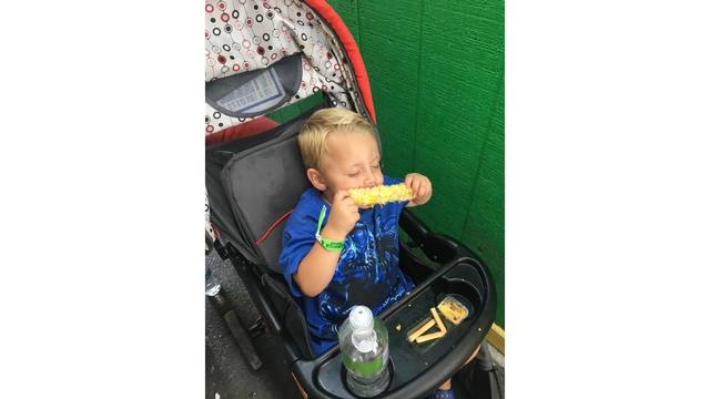 My nephew Aeron so exaghsted from all the fun he passed out eating his corn from Jessica Denny_1534282138578.jpg.jpg