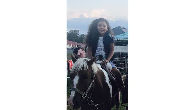 Savannah Marie age seven in a pony ride from Erin Thompson_1534282127209.jpg.jpg