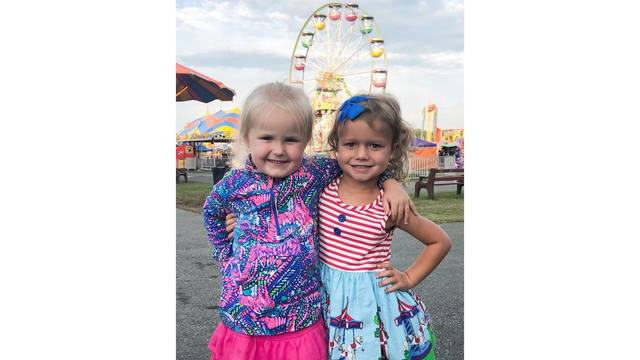8-18-18 4 year old cousins Addison and Madelynn spending the day together at that fair from Nicole DeHaven_1534522863337.jpg.jpg