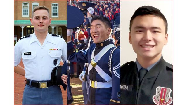 Cadets chosen to highlight the colors at the Military Bowl